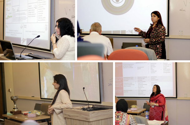 Our esteemed guests evaluate the WomenX Final Presentations by participants of IBA's Women Entrepreneurship Program