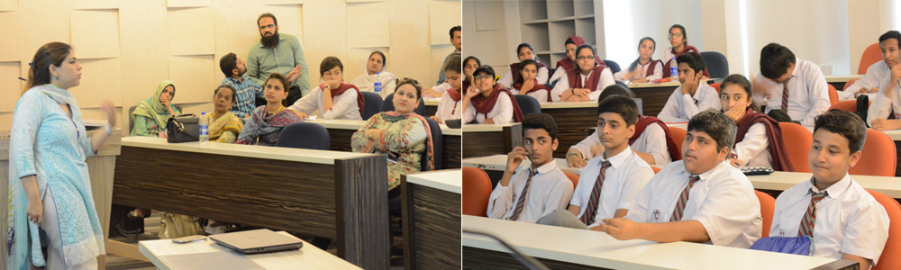 Business Studies students from The City School PAF Chapter visited IBA AMAN