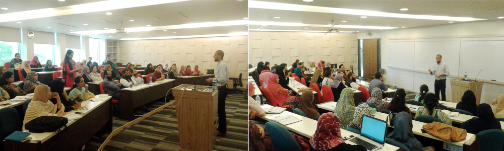 29th Jul, 2017: IBA Aman-CED arranged a session on Agile Methodology by a UK based trainer Mr. Naveed Khawaja