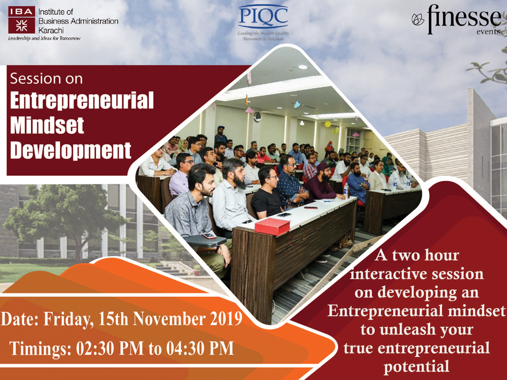 IBA CED in collaboration with PIQC and Finesse Events will conduct a workshop in Lahore on