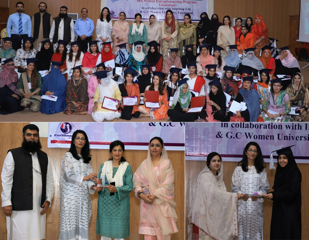 Certificate Distribution Ceremony of IBA Women Entrepreneurship Program (WEP) Faisalabad Cycle 1