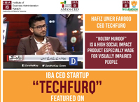 We are super proud of our incubatee Hafiz Umer Farooq (founder of TechFurq)